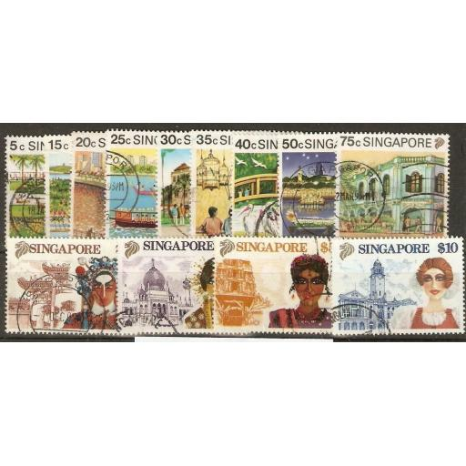 SINGAPORE SG624/36 1990 DEFINITIVE SET USED
