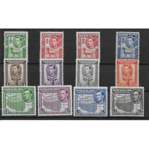 SOMALILAND SG93/104 1938 DEFINITIVE SET MTD MINT