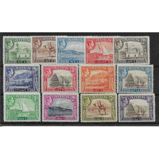 ADEN SG16/27 1939-48 DEFINITIVE SET MTD MINT