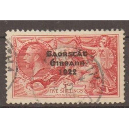 IRELAND SG84 1925 5/= ROSE-RED NARROW DATE FINE USED