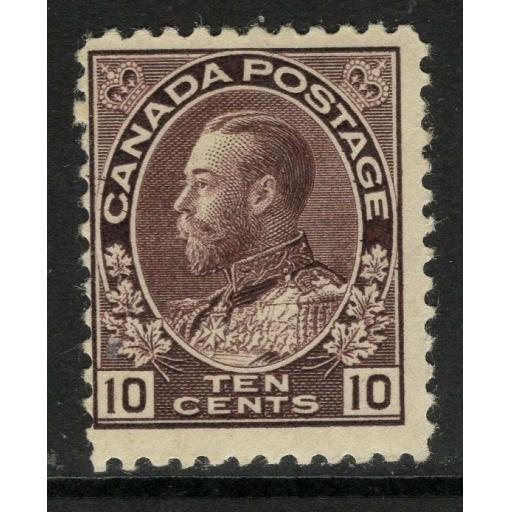 CANADA SG210 1912 10c BROWNISH PURPLE MTD MINT