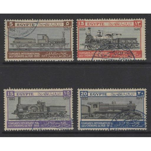EGYPT SG189/92 1933 RAILWAY CONGRESS FINE USED