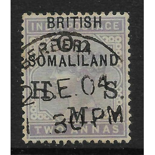 SOMALILAND SGO3 1903 2a PALE VIOLET USED
