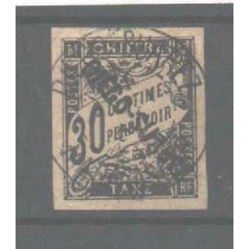 DIEGO SUAREZ SGD35 1892 30c POSTAGE DUE USED
