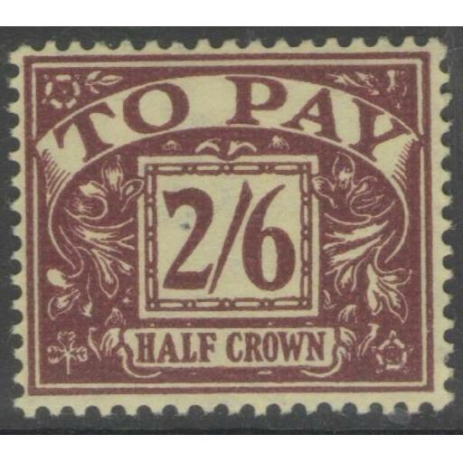 GB SGD34 1938 2/6 PURPLE/YELLOW MTD MINT
