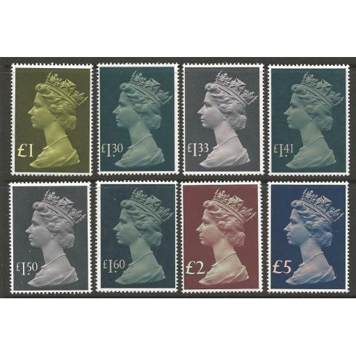 GB SG1026/8 1977-87 HIGH VALUES MNH