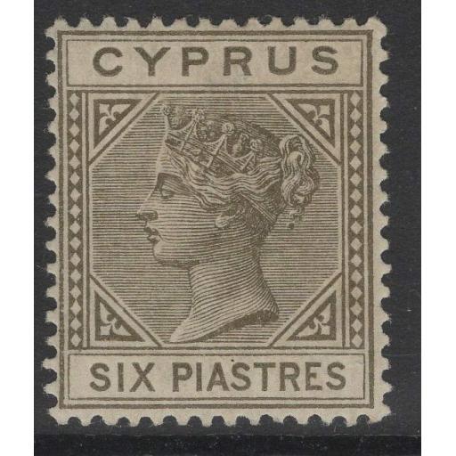 CYPRUS SG36 1894 6pi OLIVE-GREY MTD MINT