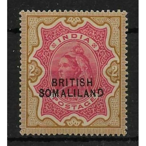 SOMALILAND SG22 1903 2r CARMINE & YELLOW-BROWN MTD MINT