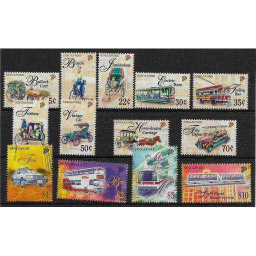 SINGAPORE SG869/77,879/82 1997 TRANSPORTATION DEFINITIVE SET MNH