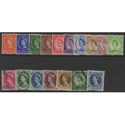 GB SG515/31 1952-4 WMK TUDOR CROWN DEFINITIVE SET USED