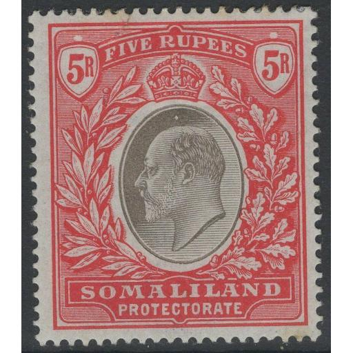 SOMALILAND SG44 1904 5r GREY-BLACK & RED MTD MINT