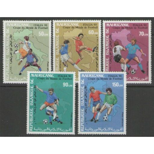 MAURITANIA SG937/41 1990 FOOTBALL WORLD CUP MNH