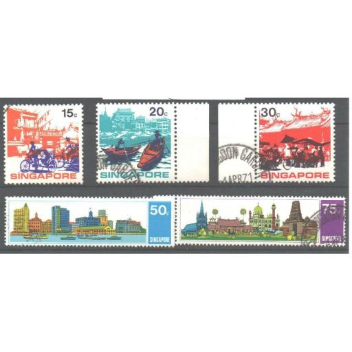 SINGAPORE SG150/4 1971 TOURISM SET USED