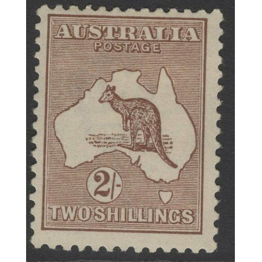 AUSTRALIA SG41 1916 2/- BROWN MTD MINT