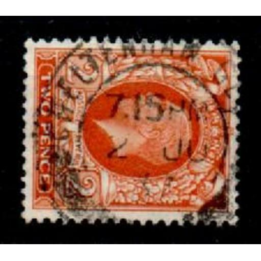 GB SG442b 1935 2d ORANGE S/WAYS WMK USED