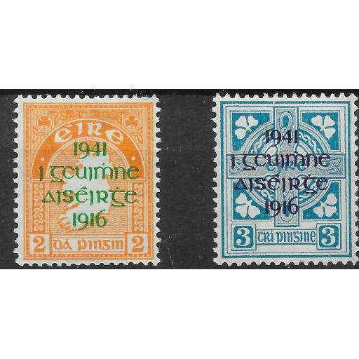 IRELAND SG126/7 1941 EASTER UPRISING OVERPRINTS MTD MINT
