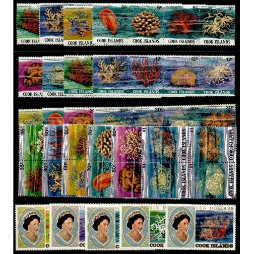 COOK ISLANDS SG713/89 1980-2 CORALS MNH