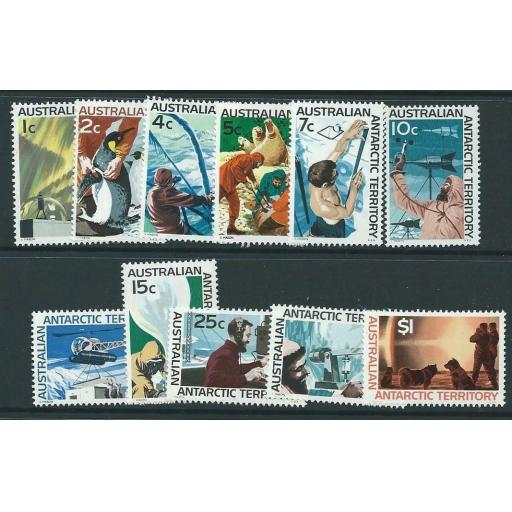AUSTRALIAN ANTARCTIC TERR SG8/18 1966 DEFINITIVES MNH