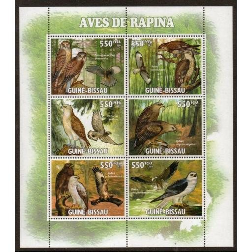G.BISSAU 2011 RAPTORS/ BIRDS SHEETLET MNH