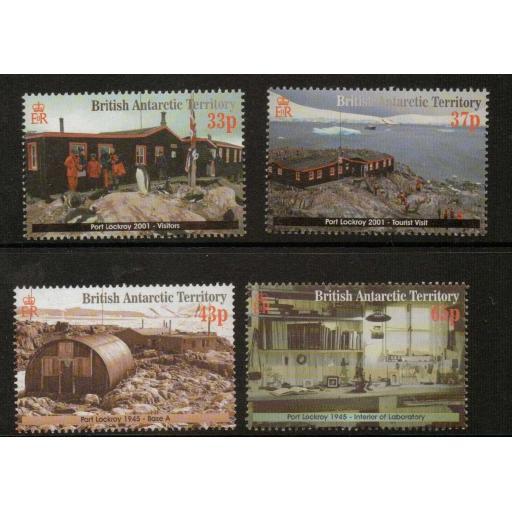 BRITISH ANTARCTIC TERR. SG329/32 2001 RESTORATION OF PORT LOCKROY BASE MNH