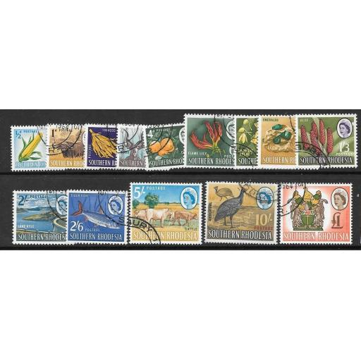 SOUTHERN RHODESIA SG92/105 1964 DEFINITIVE SET FINE USED