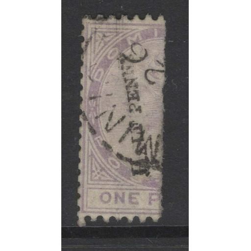 DOMINICA SG12 1883 ½d in BLACK ON HALF 1d LILAC USED