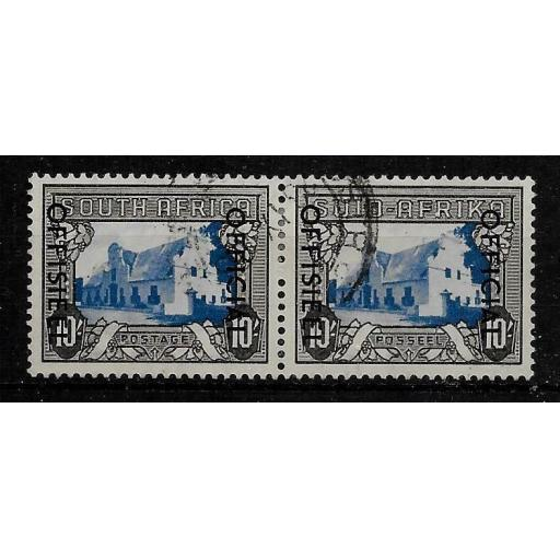 SOUTH AFRICA SGO51 1950 10/= BLUE & CHARCOAL FINE USED