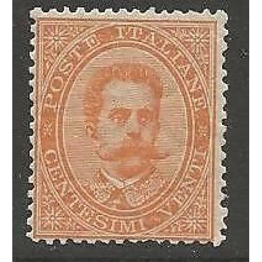 ITALY SG33 1879 20c ORANGE MTD MINT