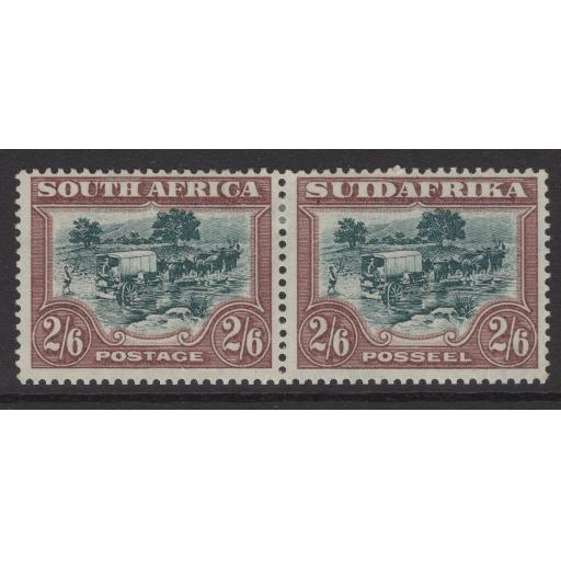 SOUTH AFRICA SG49 1932 2/6 GREEN & BROWN MTD MINT