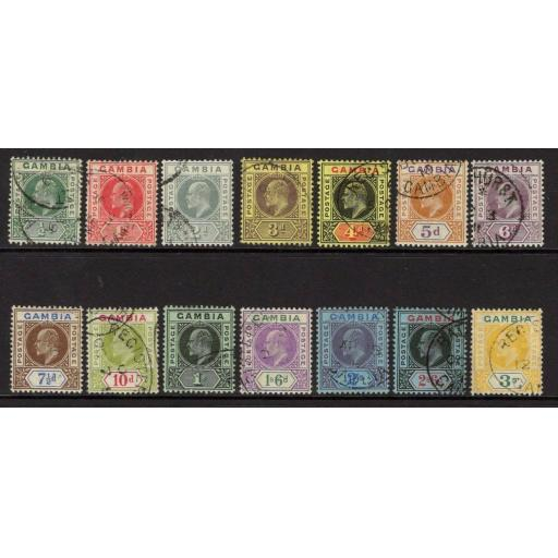 GAMBIA SG72/85 1909 COLOURS CHANGED DEFINITIVE SET FINE USED