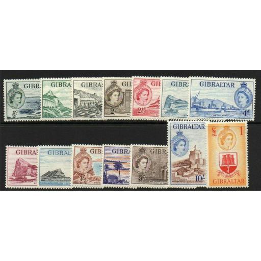 GIBRALTAR SG145/58 1953 DEFINITIVES MTD MINT
