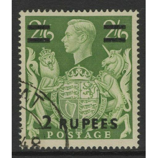 BPA IN EASTERN ARABIA SG24 1948 2r on 2/6 YELLOW-GREEN FINE USED