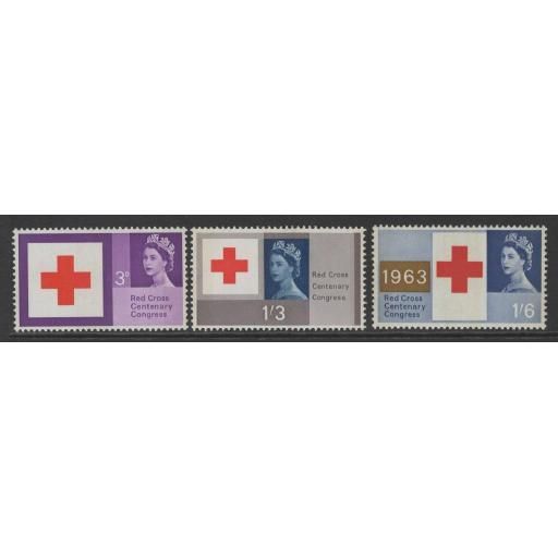 GB SG642p/4p 1963 RED CROSS PHOSPHOR MNH