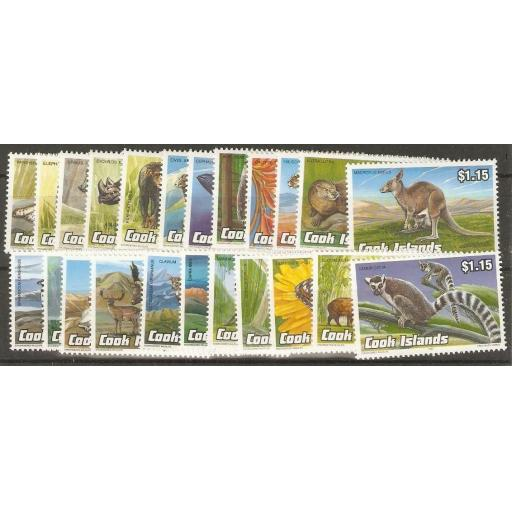 COOK ISLANDS SG1279/301 1992 ANIMALS MNH