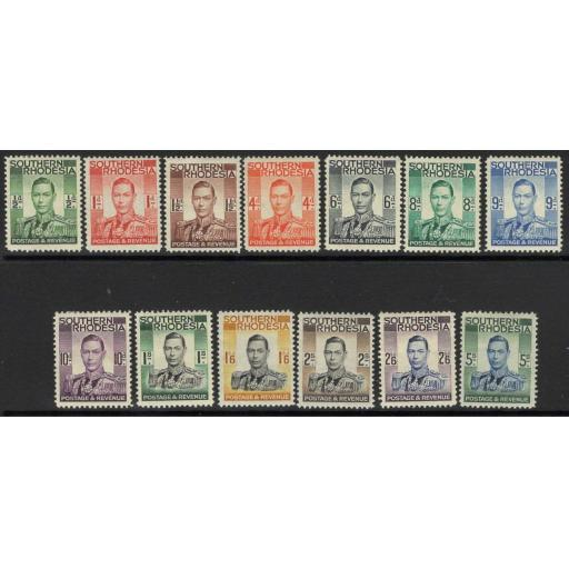 SOUTHERN RHODESIA SG40/52 1937 DEFINITIVE SET MTD MINT