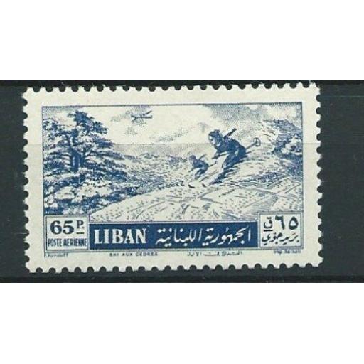 LEBANON SG525 1955 65p SKIING MNH