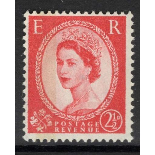 GB SG614b 1961 2½d CARMINE-RED(TYPE I) MNH