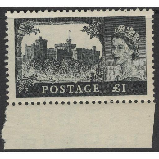 GB SG539 1955 £1 CASTLES MNH