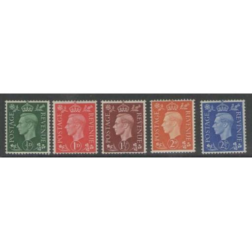 GB SG462a/6a 1938-40 WMK SIDEWAYS MNH