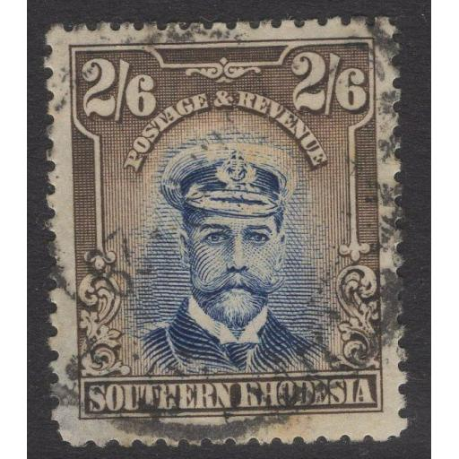 SOUTHERN RHODESIA SG13 1924 2/6 BLUE & SEPIA USED