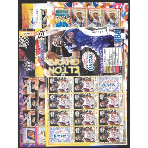 DOMINICA SG3473a/84a 2006 NATIONAL BASKETBALL PLAYERS SHEETLETS MNH