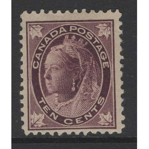CANADA SG149 1897 10c BROWNISH PURPLE MTD MINT