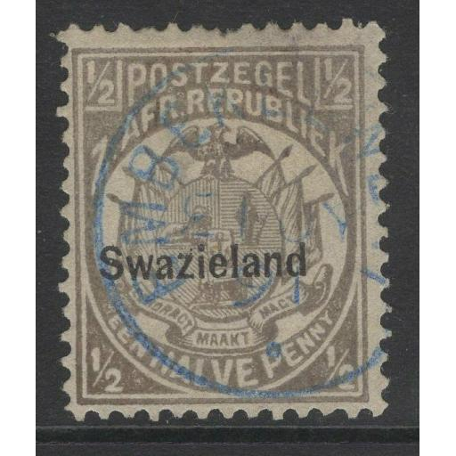 SWAZILAND SG4 1889 ½d GREY p12½ FINE USED