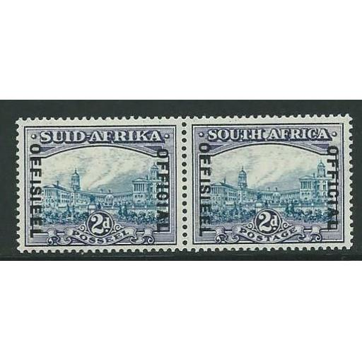SOUTH AFRICA SGO23 1939 2d BLUE & VIOLET MTD MINT