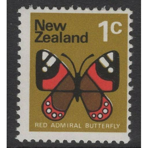 "NEW ZEALAND SG1008c 1973 1c DEFINITIVE WITH ""BLUE"" OMITTED MNH"