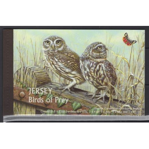 JERSEY SGSB59 2001 BIRDS OF PREY BOOKLET MNH