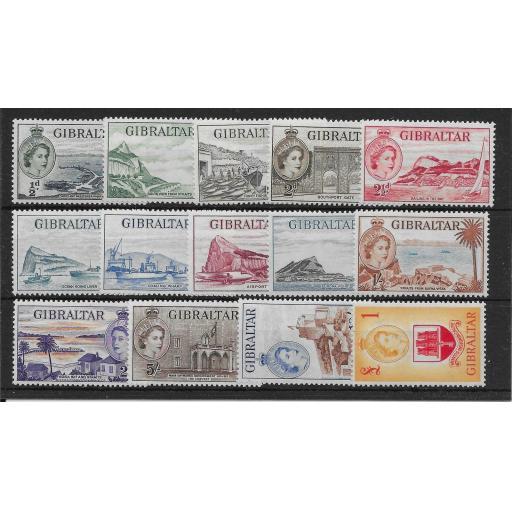 GIBRALTAR SG145/58 1953-9 DEFINITIVE SET MNH