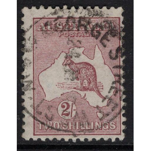 AUSTRALIA SG41b 1916 2/- RED-BROWN(ANILINE) USED