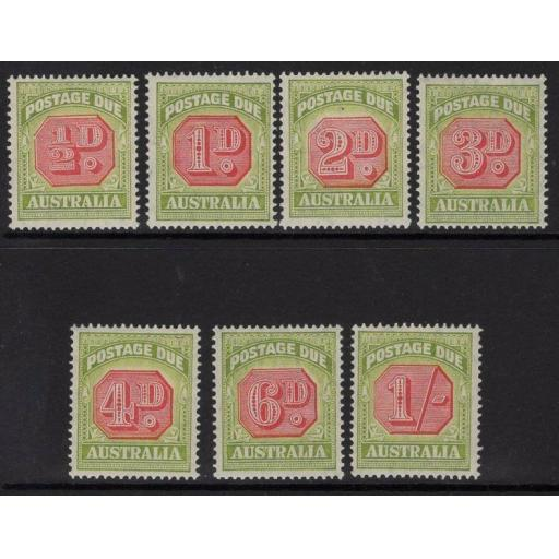 AUSTRALIA SGD112/8 1938 POSTAGE DUE SET MTD MINT