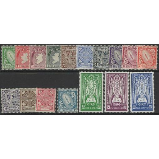 IRELAND SG111/25ba 1940-68 DEFINITIVE SET MTD MINT(1½d IS CREASED)